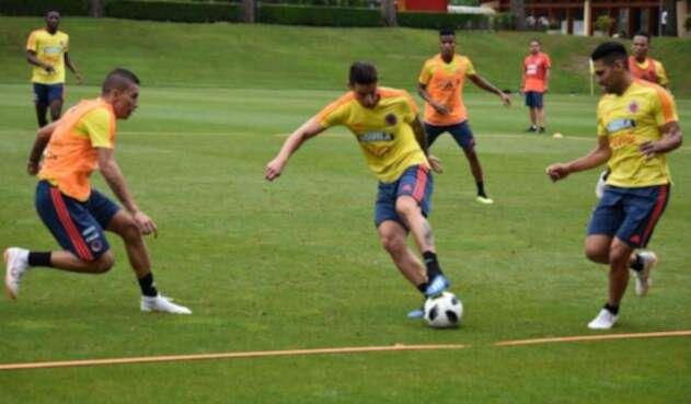 La Selección Colombia entrenando en Milán (Italia)