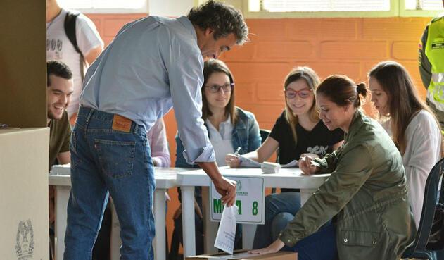 El candidato verde Sergio Fajardo