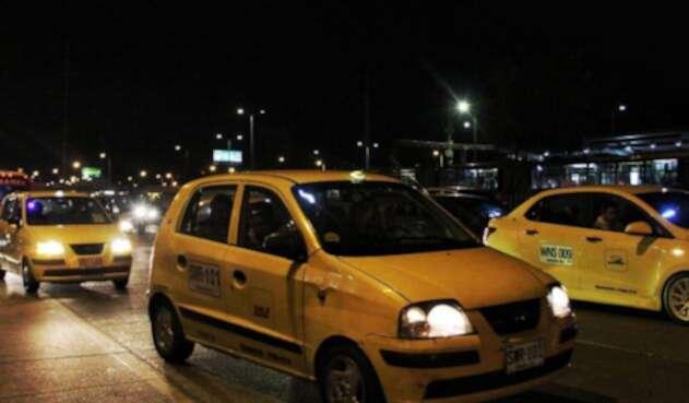 Taxis en Bogotá / Colprensa