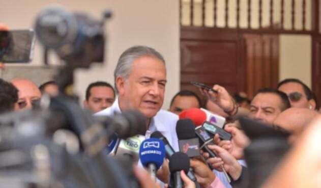 Óscar Naranjo ante la prensa