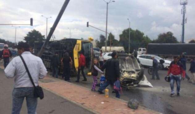 Accidente de tránsito en Bogotá