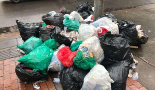 Acumulación de basuras en Bogotá