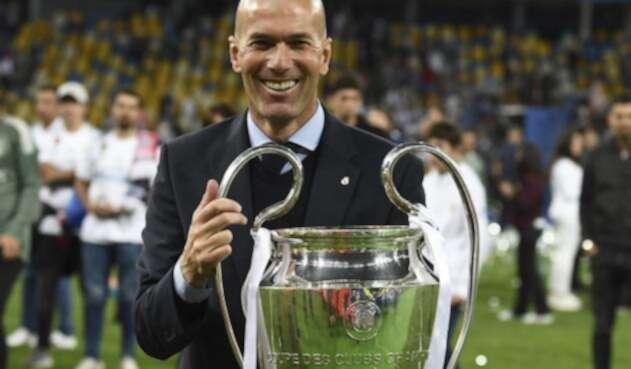 Zinedine Zidane, técnico del Real Madrid / AFP