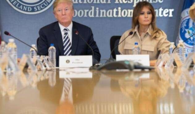 Melania Trump junto a Donald Trump.