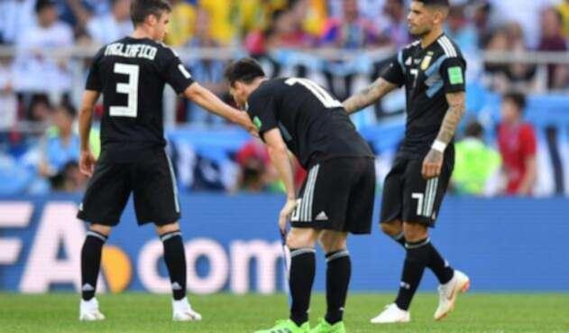 Jugadores de la Selección de Argentina