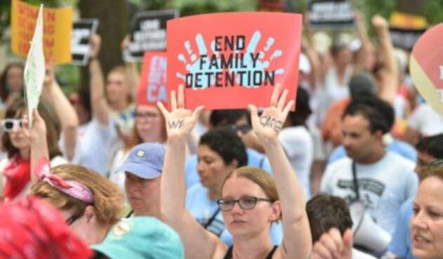 Protestas contra la separación de familias en EE.UU.