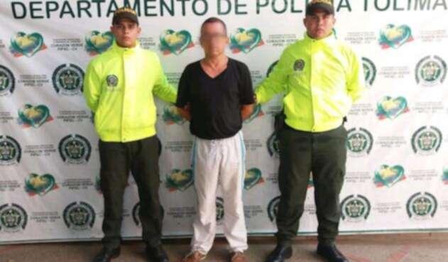 La captura tuvo lugar en el departamento del Tolima