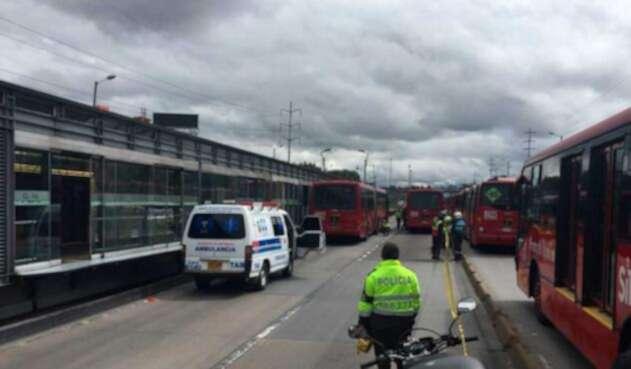 Asaltante atropellado por bus de Transmilenio