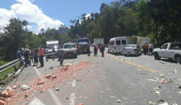Accidente en carretera