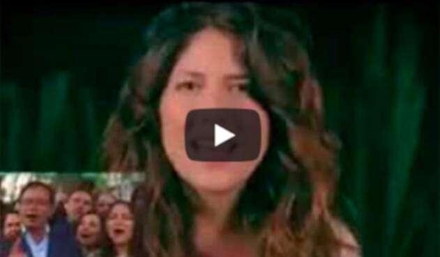 El video con la imagen de los actores en supuesto apoyo a Gustavo Petro
