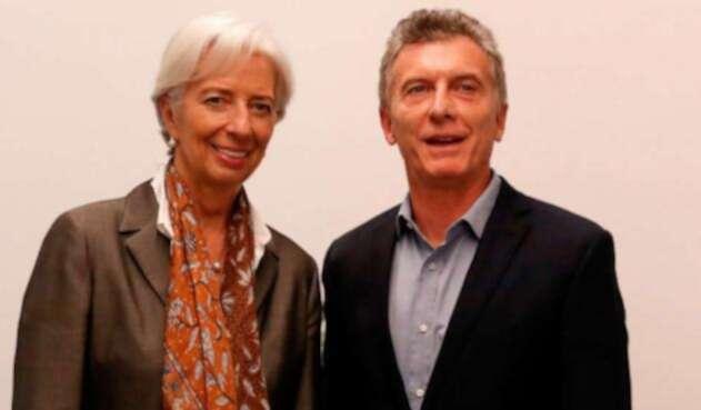 El presidente argentino, Mauricio Macri con la directora del Fondo Monetario Internacional (FMI), Christine Lagarde.