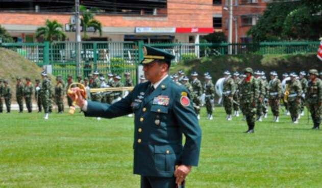 El general Alberto Sepúlveda, comandante de séptima división del Ejército