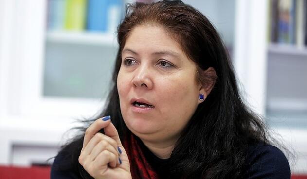 Alejandra Barrios, directora de la Misión de Observación Electoral, en Bogotá