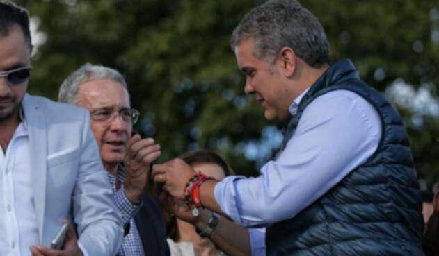 Álvaro Uribe e Iván Duque así estuvieron en la campaña presidencial.