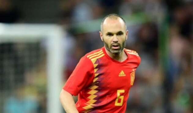 Andrés Iniesta, jugador de la selección española