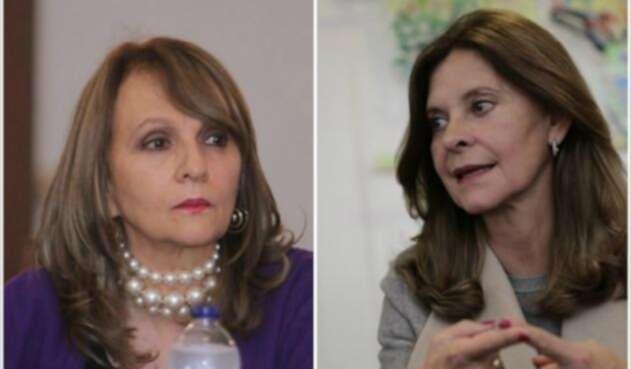Ángela María Robledo y Martha Lucía Ramírez, candidatas a la Vicepresidencia