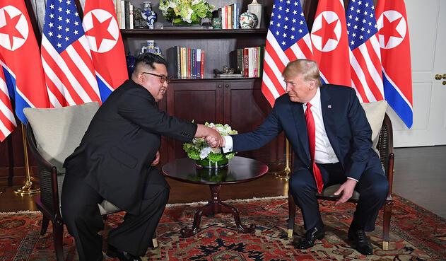 Donald Trump y Kim Jong reunidos