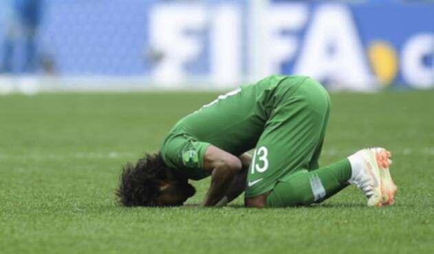 La selección saudí viajaba para su partido ante Uruguay