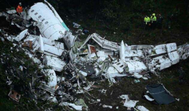 Así quedó el avión de Lamia tras el accidente de Chapecoense en Antioquia