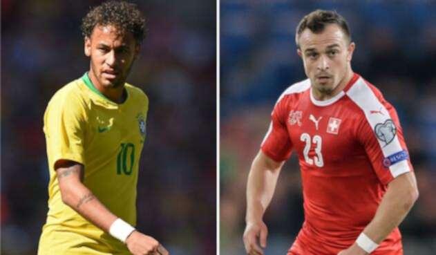 Neymar y Xherdan Shaqiri son las figuras de sus selecciones