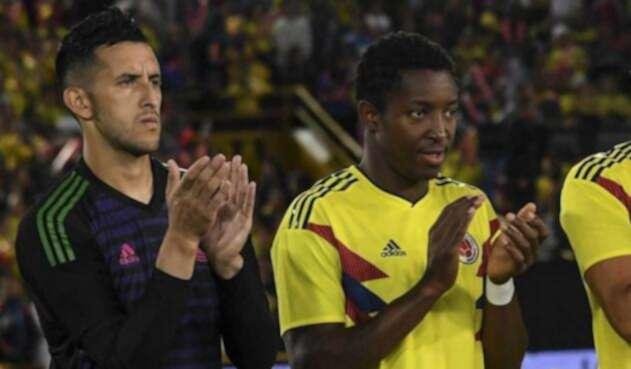 Camilo Vargas y Óscar Murillo, jugadores de la Selección Colombia