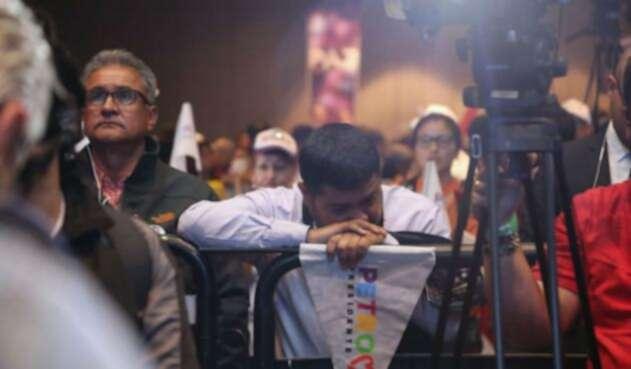 Tristeza en la campaña de Gustavo Petro