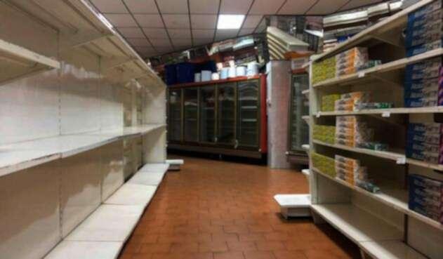 Así lucía, el 6 de enero pasado, un supermercado en Caracas
