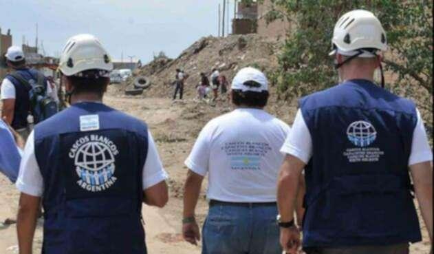 Los Cascos Blancos Argentinos que llegan a Colombia