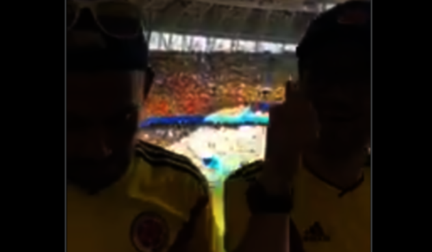 Colombianos que ingresaron trago a estadio de Rusia