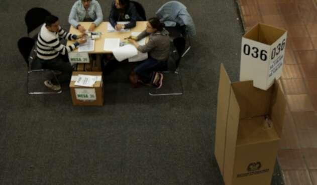 Elecciones presidenciales primera vuelta 2018. Puesto de votación Corferias, en Bogotá