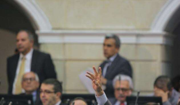 Plenaria del Senado en medio de la votación para elegir al contralor general