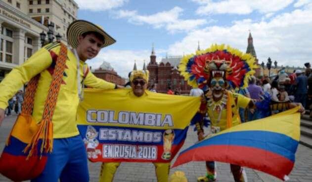 Hinchas de la 'tricolor' se reúnen en la capital rusa para disfrutar de la cita orbital