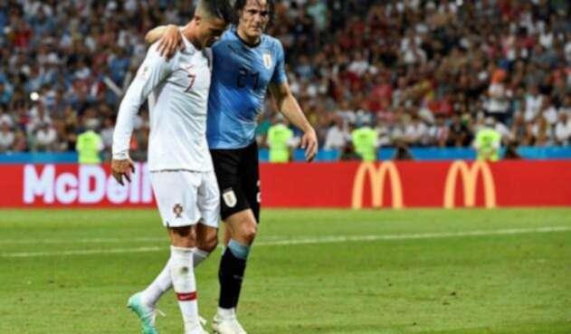 Edinson Cavani y Cristiano Ronaldo