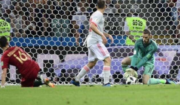 El meta español recibió tres tantos de Cristiano Ronaldo