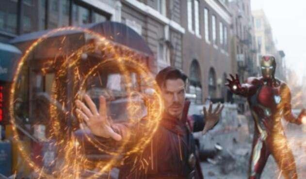 Benedict Cumberbatch como Doctor Strange en Avengers Infinity War