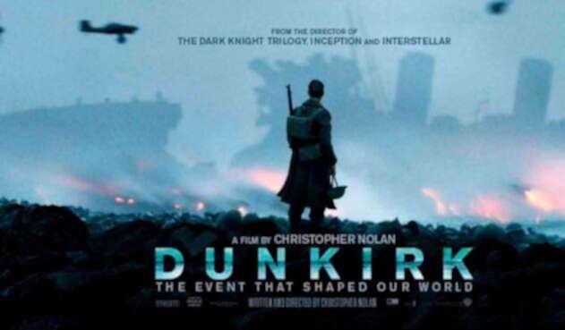 Afiche promocional de la película Dunkirk
