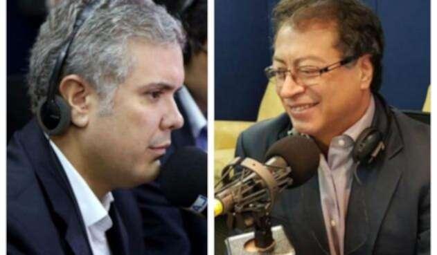 Iván Duque y Gustavo Petro se enfrentan este domingo en la segunda vuelta electoral