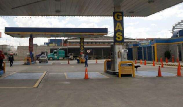 Estación de gas vehícular