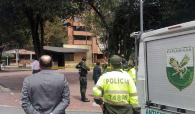 Supuesto explosivo en Bogotá.