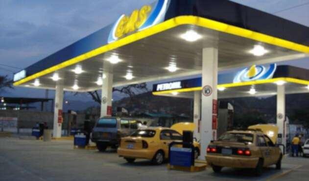 Una estación de Gas Natural Vehicular en Cundinamarca