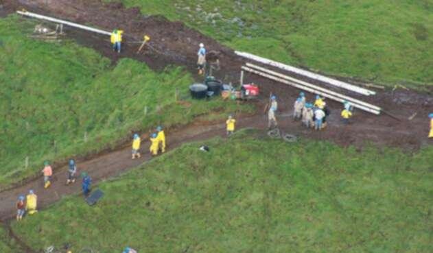 Foto del gasoducto Mariquita-Cali
