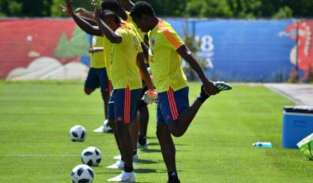 La Selección Colombia entrenando en Kazán de cara al juego contra Inglaterra