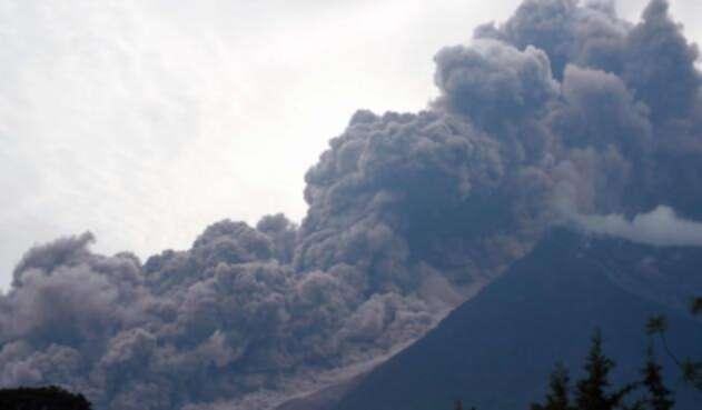 La erupción del volcán de Fuego de Guatemala