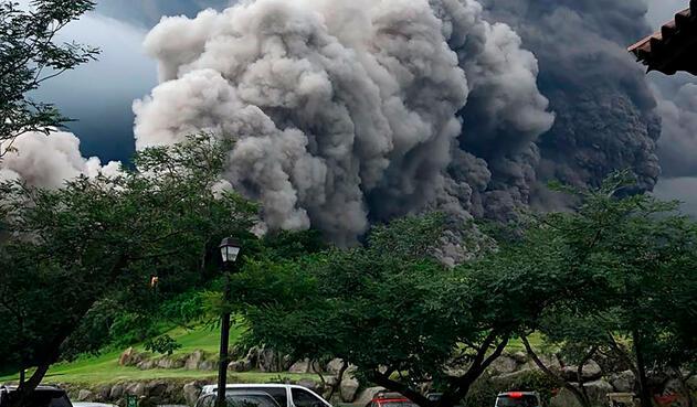 La erupción en Guatemala del volcán de fuego