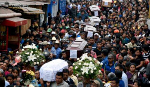 En Sacatepequez, las hónras fúnebres a las víctimas del Volcán de Fuego en Guatemala