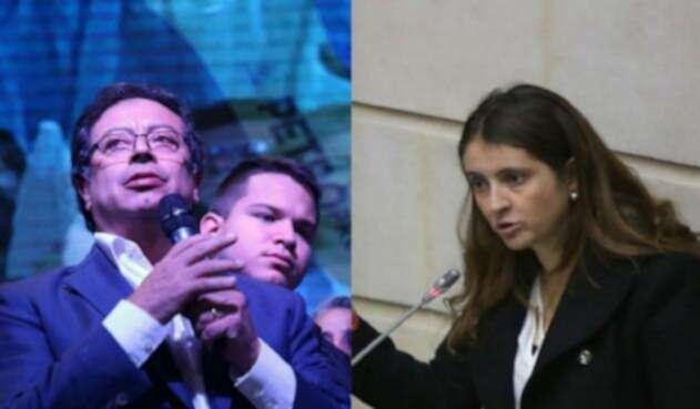Gustavo Petro y Paloma Valencia