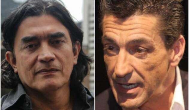 Gustavo Bolívar, congresista electo, y Luis Fernando Montoya, actor fallecido