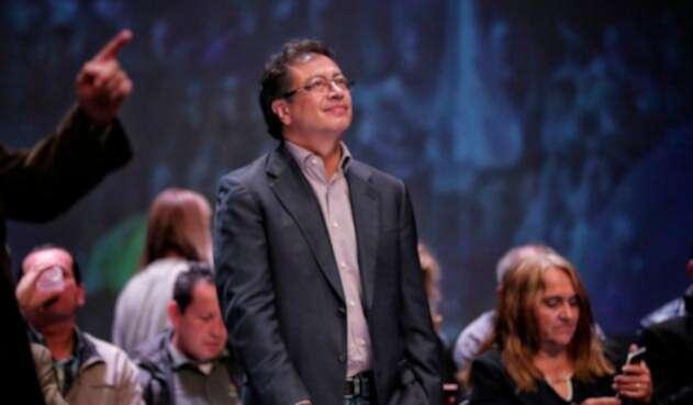 Gustavo Petro, ex aspirante presidencial, en Bogotá
