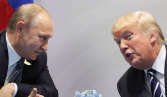 Los presidentes de Rusia, Vladimir Putin, y Estados Unidos, Donald Trump.