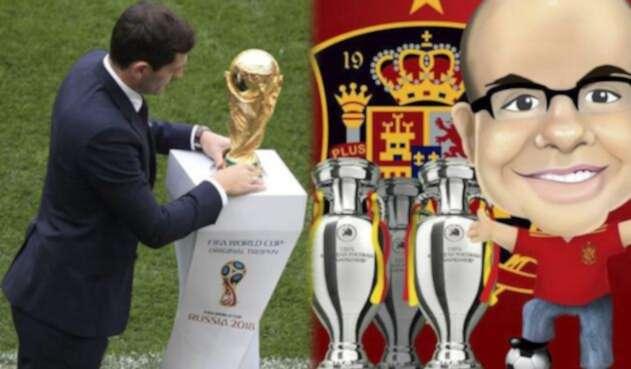 Iker Casillas y el logo de Misterchip en Twitter